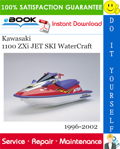 Thumbnail ☆☆ Best ☆☆ Kawasaki 1100 ZXi JET SKI WaterCraft Service Repair Manual 1996-2002 Download