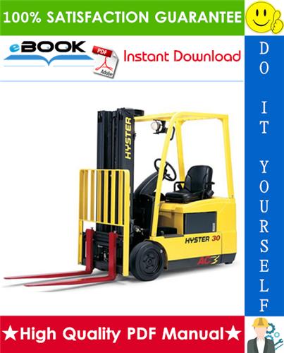 Thumbnail ☆☆ Best ☆☆ Hyster J30ZT, J35ZT, J40ZT (J160) Forklift Trucks Service Repair Manual