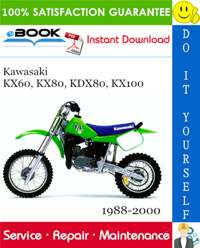 Thumbnail ☆☆ Best ☆☆ Kawasaki KX60, KX80, KDX80, KX100 Motorcycle Service Repair Manual 1988-2000 Download