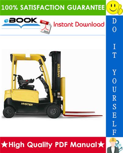 Thumbnail ☆☆ Best ☆☆ Hyster J30XNT, J35XNT, J40XNT (K160) 3-Wheel Electric Forklift Trucks Service Repair Manual