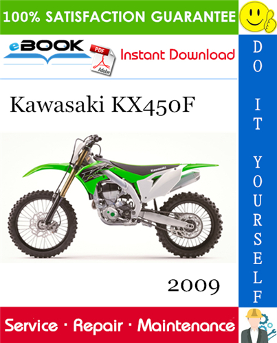 Thumbnail ☆☆ Best ☆☆ 2009 Kawasaki KX450F Motorcycle Service Repair Manual