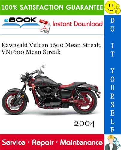 Thumbnail ☆☆ Best ☆☆ 2004 Kawasaki Vulcan 1600 Mean Streak, VN1600 Mean Streak Motorcycle Service Repair Manual