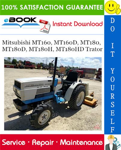 Thumbnail ☆☆ Best ☆☆ Mitsubishi MT160, MT160D, MT180, MT180D, MT180H, MT180HD Trator Service Repair Manual