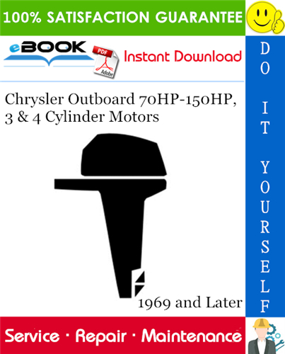 Thumbnail ☆☆ Best ☆☆ Chrysler Outboard 70HP-150HP, 3 & 4 Cylinder Motors Service Repair Manual 1969 and Later