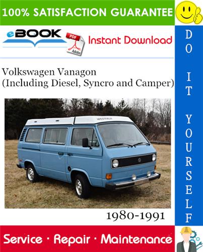 Thumbnail ☆☆ Best ☆☆ Volkswagen Vanagon (Including Diesel, Syncro and Camper) Service Repair Manual 1980-1991 Download