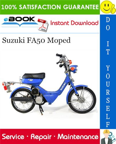 Thumbnail ☆☆ Best ☆☆ Suzuki FA50 Moped Scooter Service Repair Manual