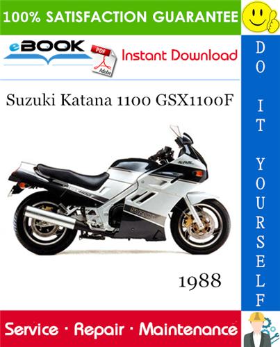 Thumbnail ☆☆ Best ☆☆ 1988 Suzuki Katana 1100 GSX1100F Motorcycle Service Repair Manual