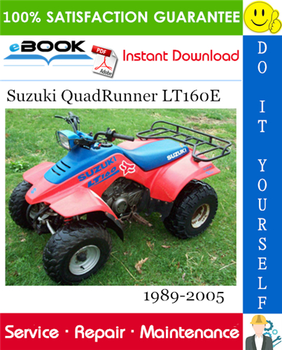 Thumbnail ☆☆ Best ☆☆ Suzuki QuadRunner LT160E ATV Service Repair Manual 1989-2005 Download