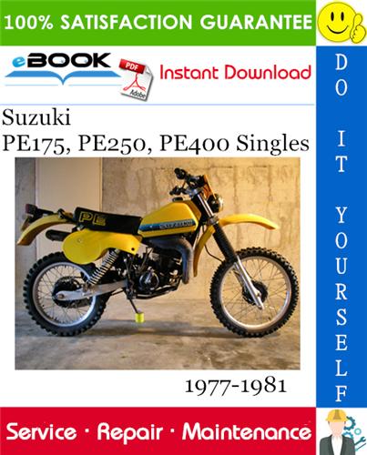 Thumbnail ☆☆ Best ☆☆ Suzuki PE175, PE250, PE400 Singles Motorcycle Service Repair Manual 1977-1981 Download