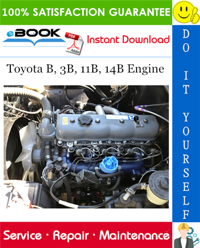 Thumbnail ☆☆ Best ☆☆ Toyota B, 3B, 11B, 14B Engine Service Repair Manual