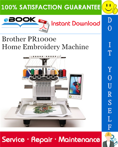 Thumbnail ☆☆ Best ☆☆ Brother PR1000e Home Embroidery Machine Service Repair Manual