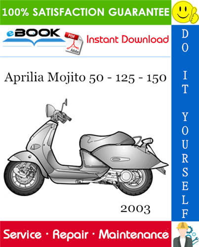 Thumbnail ☆☆ Best ☆☆ 2003 Aprilia Mojito 50 - 125 - 150 Motorcycle Service Repair Manual