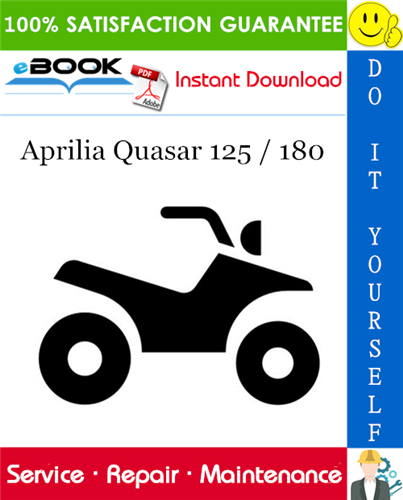Thumbnail ☆☆ Best ☆☆ Aprilia Quasar 125 / 180 ATV Service Repair Manual