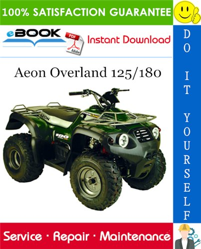 Thumbnail ☆☆ Best ☆☆ Aeon Overland 125/180 ATV Service Repair Manual