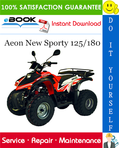 Thumbnail ☆☆ Best ☆☆ Aeon New Sporty 125/180 ATV Service Repair Manual