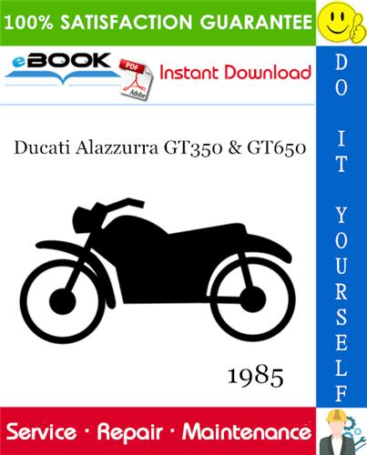 Thumbnail ☆☆ Best ☆☆ 1985 Ducati Alazzurra GT350 & GT650 Motorcycle Service Repair Manual