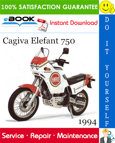 Thumbnail ☆☆ Best ☆☆ 1994 Cagiva Elefant 750 Motorcycle Service Repair Manual