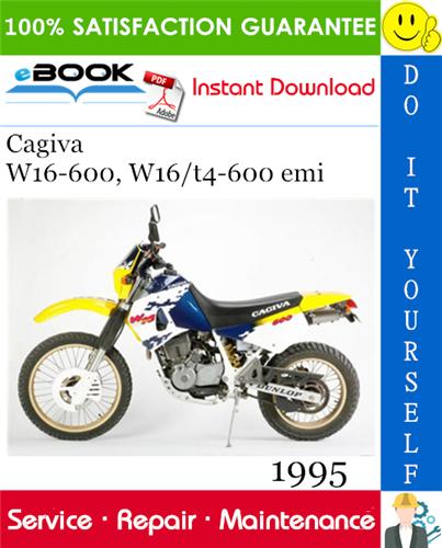 Thumbnail ☆☆ Best ☆☆ 1995 Cagiva W16-600, W16/t4-600 emi Motorcycle Service Repair Manual