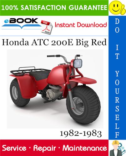 Thumbnail ☆☆ Best ☆☆ Honda ATC 200E Big Red ATV Service Repair Manual 1982-1983 Download
