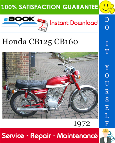 Thumbnail ☆☆ Best ☆☆ 1972 Honda CB125 CB160 Motorcycle Service Repair Manual