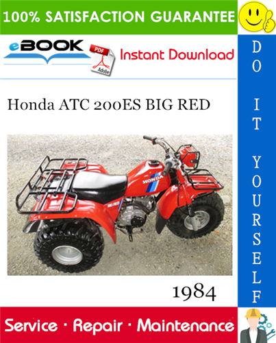 Thumbnail ☆☆ Best ☆☆ 1984 Honda ATC 200ES BIG RED ATV Service Repair Manual