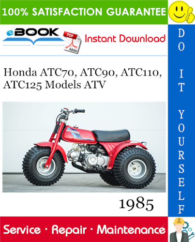 Thumbnail ☆☆ Best ☆☆ 1985 Honda ATC70, ATC90, ATC110, ATC125 Models ATV Service Repair Manual