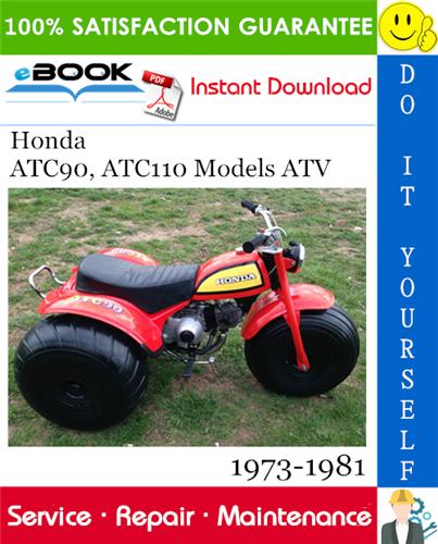 Thumbnail ☆☆ Best ☆☆ Honda ATC90, ATC110 Models ATV Service Repair Manual 1973-1981 Download