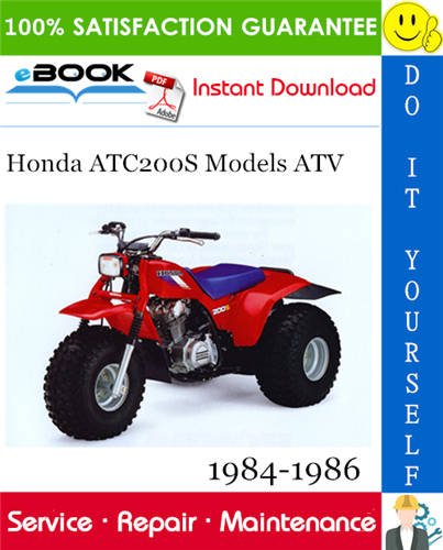 Thumbnail ☆☆ Best ☆☆ Honda ATC200S Models ATV Service Repair Manual 1984-1986 Download