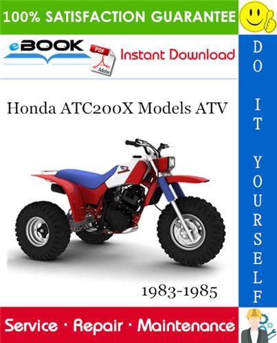 Thumbnail ☆☆ Best ☆☆ Honda ATC200X Models ATV Service Repair Manual 1983-1985 Download