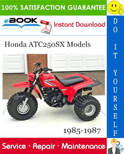 Thumbnail ☆☆ Best ☆☆ Honda ATC250SX Models ATV Service Repair Manual 1985-1987 Download