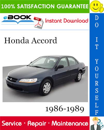Thumbnail ☆☆ Best ☆☆ Honda Accord Service Repair Manual 1986-1989 Download