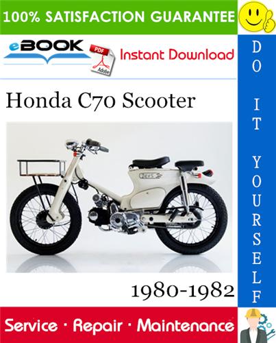 Thumbnail ☆☆ Best ☆☆ Honda C70 Scooter Service Repair Manual 1980-1982 Download
