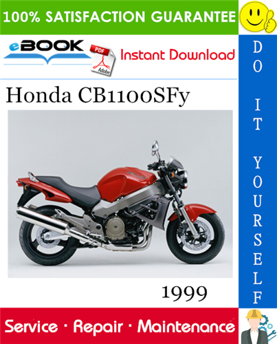 Thumbnail ☆☆ Best ☆☆ 1999 Honda CB1100SFy Motorcycle Service Repair Manual