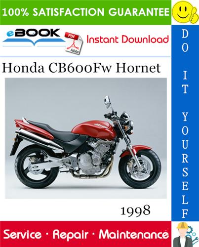Thumbnail ☆☆ Best ☆☆ 1998 Honda CB600Fw Hornet Motorcycle Service Repair Manual