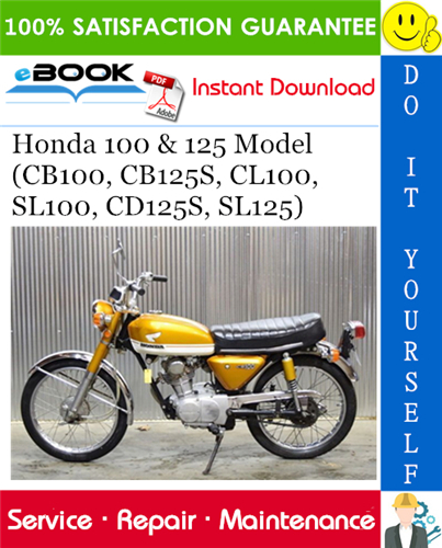 Thumbnail ☆☆ Best ☆☆ Honda 100 & 125 Model (CB100, CB125S, CL100, SL100, CD125S, SL125) Motorcycle Service Repair Manual