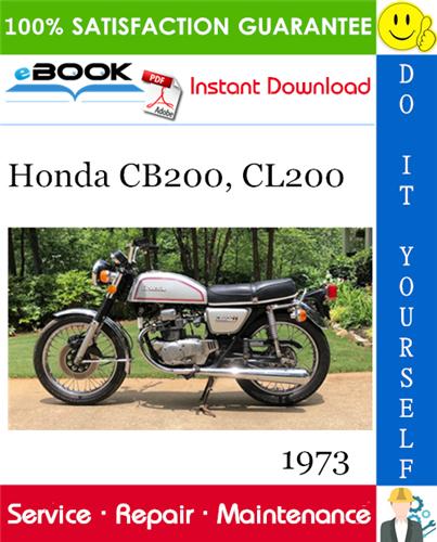 Thumbnail ☆☆ Best ☆☆ 1973 Honda CB200, CL200 Motorcycle Service Repair Manual