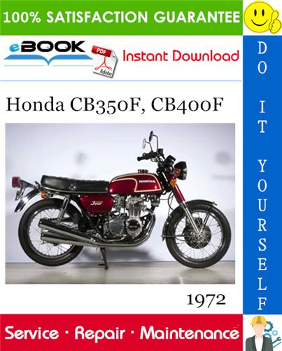 Thumbnail 1972 Honda CB350F, CB400F Motorcycle Service Repair Manual
