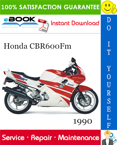 Thumbnail ☆☆ Best ☆☆ 1990 Honda CBR600Fm Motorcycle Service Repair Manual