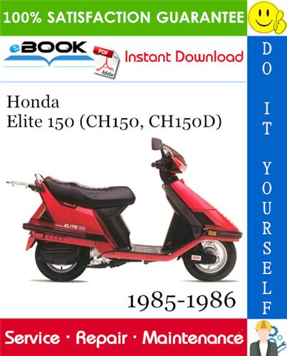 Thumbnail ☆☆ Best ☆☆ Honda Elite 150 (CH150, CH150D) Scooter Service Repair Manual 1985-1986 Download