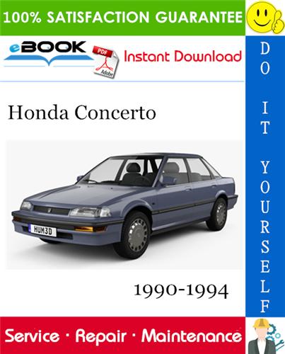 Thumbnail ☆☆ Best ☆☆ Honda Concerto Service Repair Manual 1990-1994 Download
