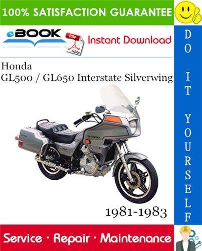 Thumbnail ☆☆ Best ☆☆ Honda GL500 / GL650 Interstate Silverwing Motorcycle Service Repair Manual 1981-1983 Download