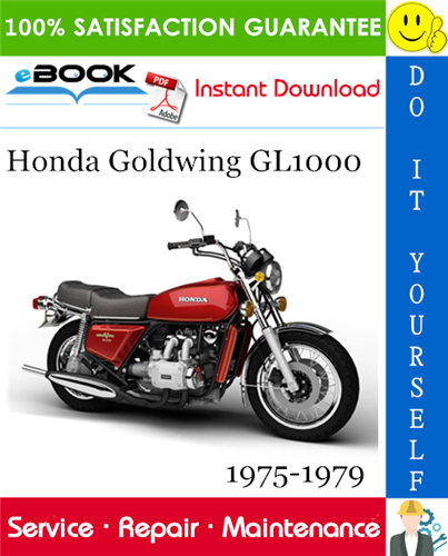 Thumbnail Honda Goldwing GL1000 Motorcycle Service Repair Manual 1975-1979 Download