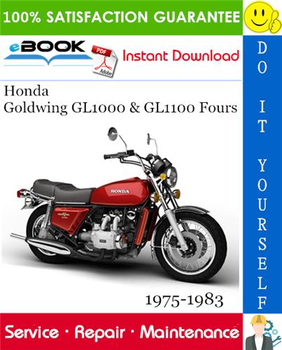 Thumbnail Honda Goldwing GL1000 & GL1100 Fours Motorcycle Service Repair Manual 1975-1983 Download