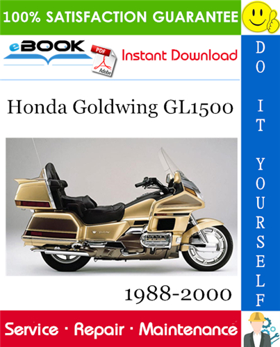Thumbnail ☆☆ Best ☆☆ Honda Goldwing GL1500 Motorcycle Service Repair Manual 1988-2000 Download