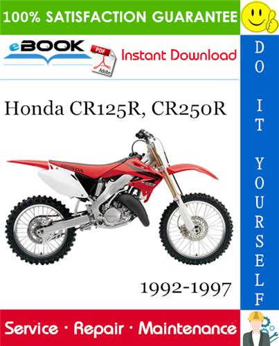 Thumbnail ☆☆ Best ☆☆ Honda CR125R, CR250R Motorcycle Service Repair Manual 1992-1997 Download