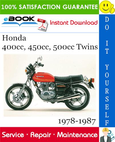 Thumbnail ☆☆ Best ☆☆ Honda 400cc, 450cc, 500cc Twins Motorcycle Service Repair Manual 1978-1987 Download