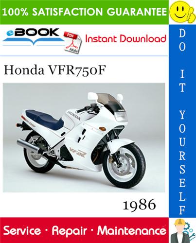 Thumbnail ☆☆ Best ☆☆ 1986 Honda VFR750F Motorcycle Service Repair Manual