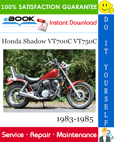 Thumbnail ☆☆ Best ☆☆ Honda Shadow VT700C VT750C Motorcycle Service Repair Manual 1983-1985 Download
