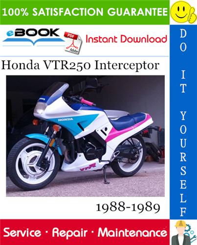 Thumbnail ☆☆ Best ☆☆ Honda VTR250 Interceptor Motorcycle Service Repair Manual 1988-1989 Download