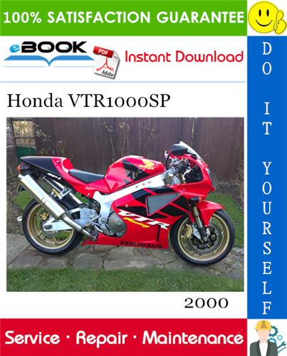Thumbnail ☆☆ Best ☆☆ 2000 Honda VTR1000SP Motorcycle Service Repair Manual